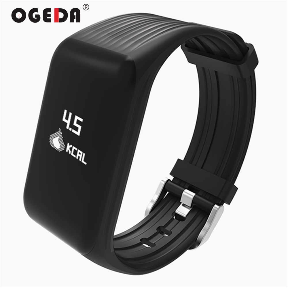 OGEDA Smart Watch Men Heart Rate Monitor Smart Bracelet K1 Fitness Tracker Smart Bracelet Heart Rate Monitor Waterproof Sports цена 2017
