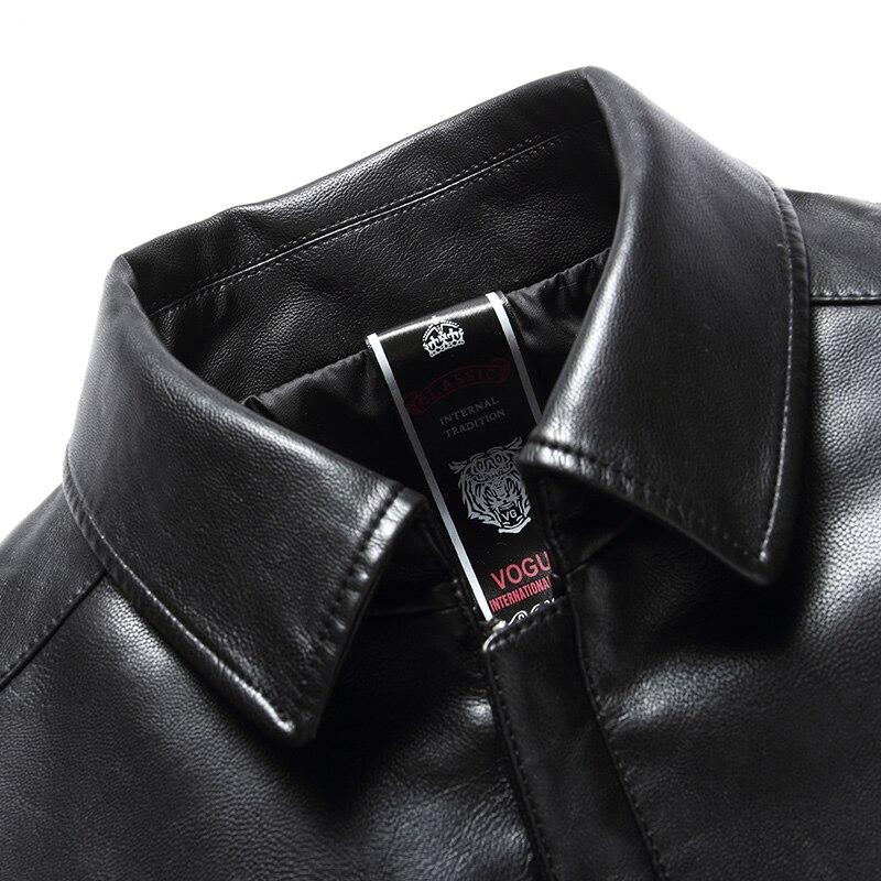 Новинка 1863, модное мужское пальто из натуральной кожи, куртка, Мужская одежда, пальто, Мужская осенняя куртка - 3