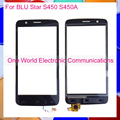 "Alta Calidad 4.5 ""Para BLU STAR S450 S450A Panel de Pantalla Táctil Digitalizador Del Sensor de Cristal Negro Código de Seguimiento del Envío Libre"