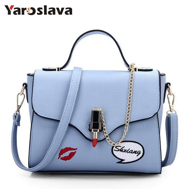 32f9ecfcba77 US $16.53 43% OFF|Fashion Summer Female Tote Bags Satchel PU Leather Sweet  Lipstick Handbags for Women Femininas Gray Beige Purse 2019 LL269-in ...