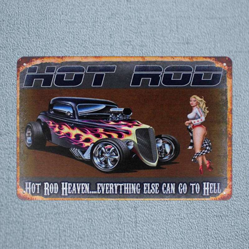 Us 4 94 45 Off Hot Rod Retro Car Tin Metal Signs Vintage Plates For Wall Bar Garage Home Art Craft Decor Cuadros 30x20cm A 3026 In Plaques Signs