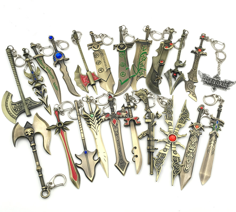 Jewelry Sets & More Diplomatic 22pcs/lot Game Jewelry League Hero Weapon Anime Keychain Tryndamere Key Rings Key Holder For Men Christmas Gifts Mix Designs Easy To Use