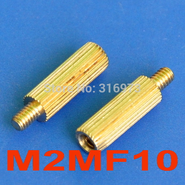 100pcs M2 8+4mm fil mâle femelle rond laiton vis entretoise PCB Pilier
