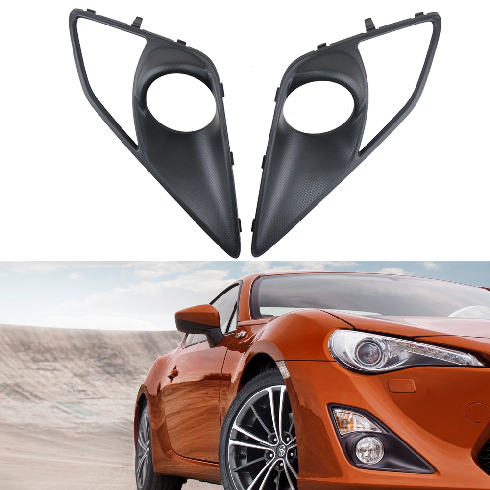 Fog light bumper car cover lamp bezel for for Toyota GT86/Scion FR-S/ forSubaru BRZ fog lamp 52mm racing aluminum radiator for 13 16 subaru brz frs gt86 fr s toyota sl