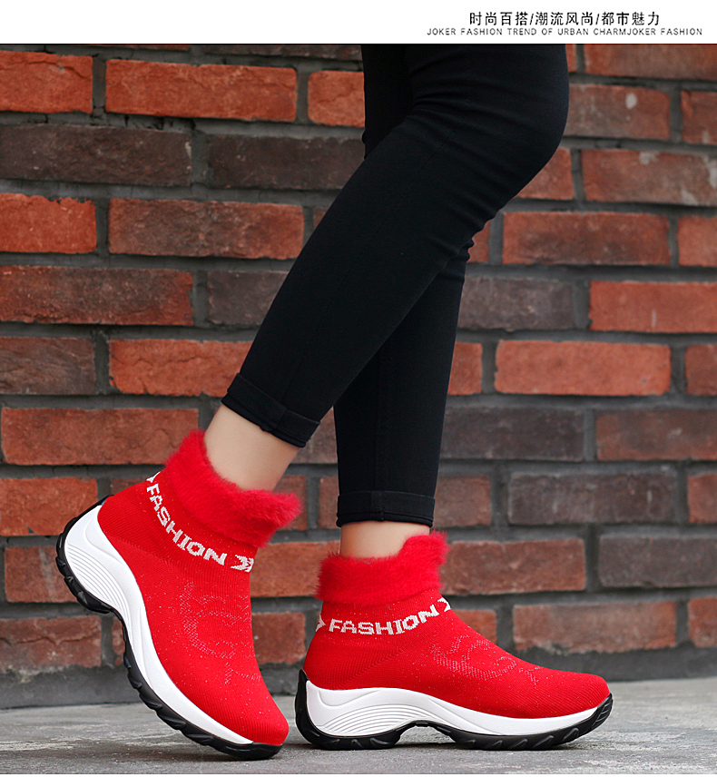 STS BRAND 2019 New Winter Ankle Boots Women Snow Boots Warm Plush Platform Sneakers Breathable Mesh Sneakers Travel Casual Shoes (19)
