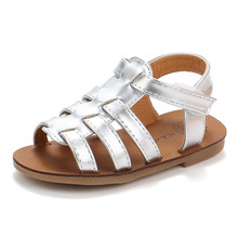 New Kids Summer Shoes Girls Gladiator Sandals Pincess Cool Roman Style Children Soft Bottom