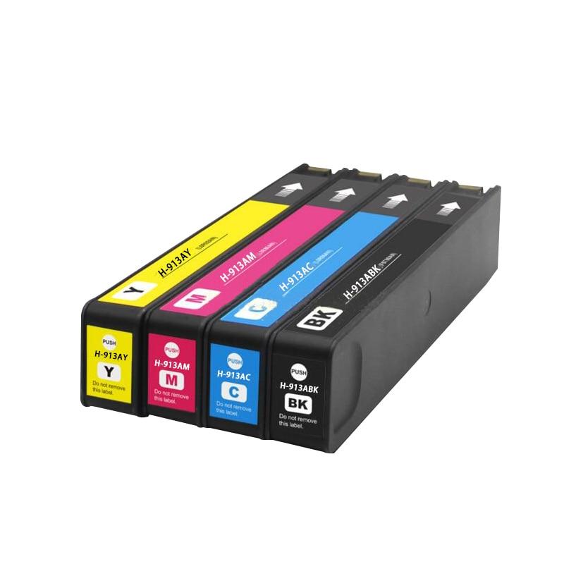 цена на 4PK compatible hp 913a ink cartridge for hp PageWide 352dw/377dw 452dw/452dn/477dw/477dn/552dw/577dw printer