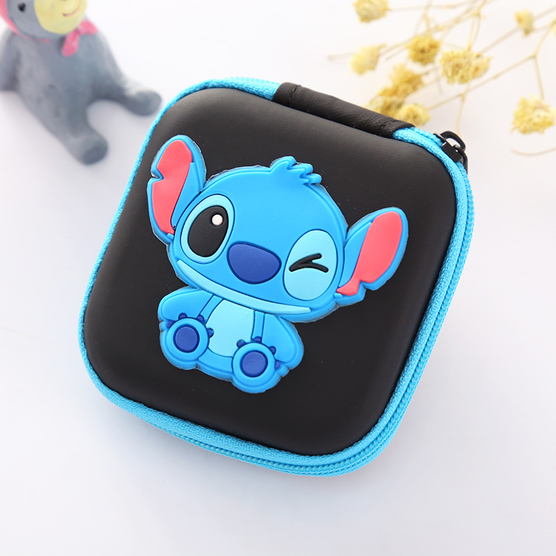 Mini Change Wallet Cute Cartoon Children Coin Purse Mini Storage Box Case Earphone Holder Bags Gifts Boy Girls Dollar Wallets candy colored girls coin bags women key wallets cute pu eva mini square storage hard bag case holder for sd tf card earphone