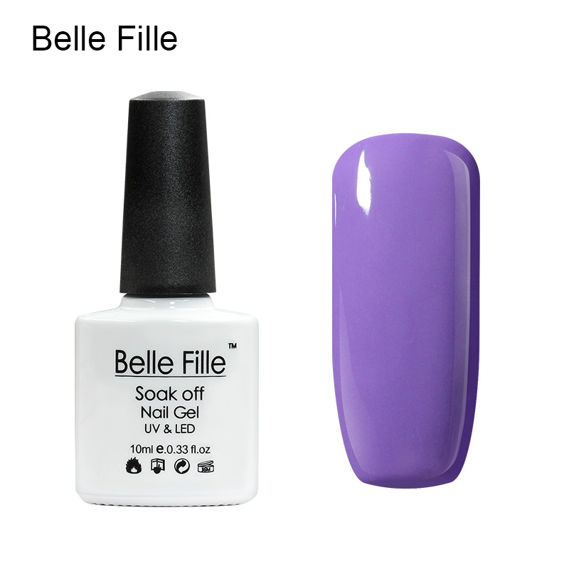 Belle Fille Gel Polish Paars Serie Kleur Coat UV LED Losweken - Nagel kunst - Foto 4