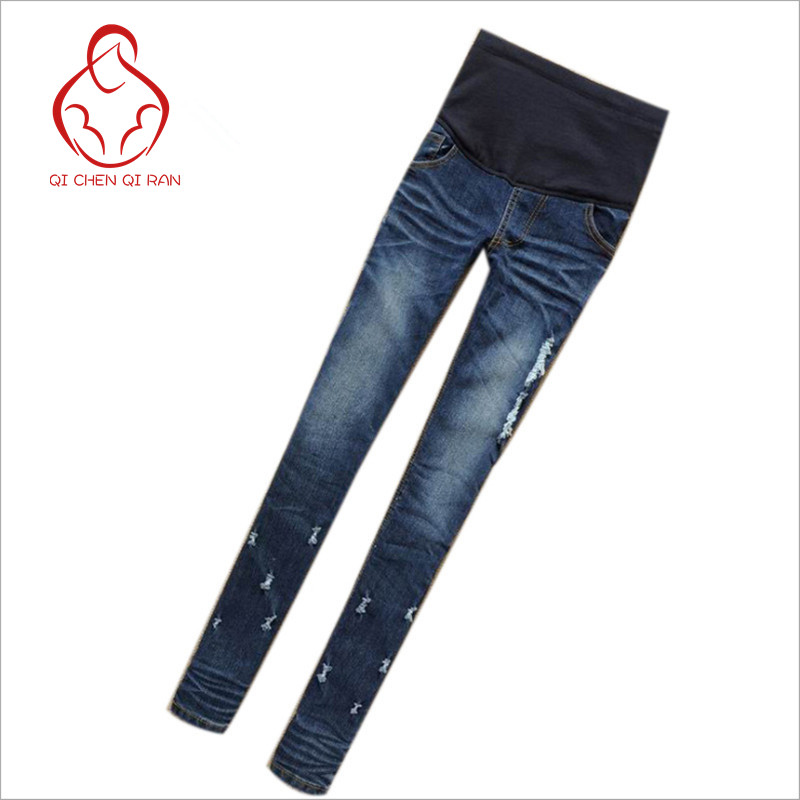 ac00e8918e88 Maternity Clothes Jeans Woman Elastic Waist Denim Maternity Jeans ...