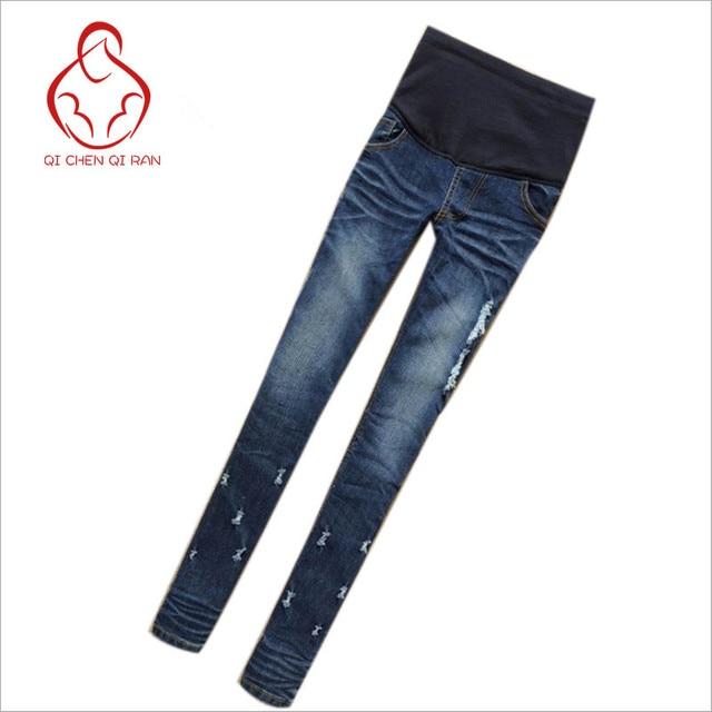 e9b748999 Ropa Mujer Pantalones Vaqueros de Cintura Elástica Denim Pantalones  Vaqueros De Maternidad Pantalones de maternidad Pantalones