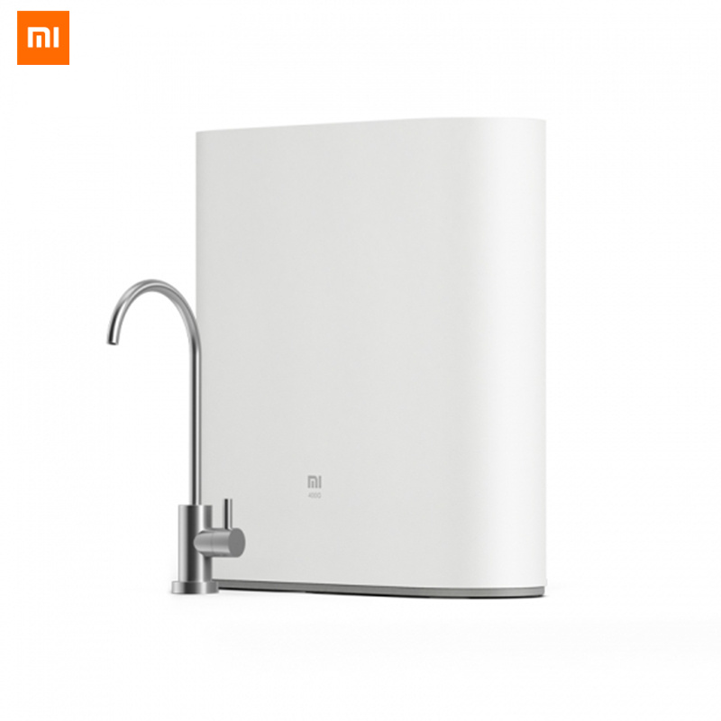 Original Xiaomi Mi Water Purifier 1A with Faucet Support WiFi Connect Smart Mi Home APP RO Reverse Osmosis Filter for Household xiaomi mi smart air purifier 2nd gen hepa home air cleaner app control