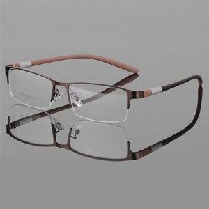 Image 4 - Eyewear סגסוגת משקפיים מסגרת גברים משקפיים אופטיים מרשם משקפיים זכר מחזה לגבר Eyewear