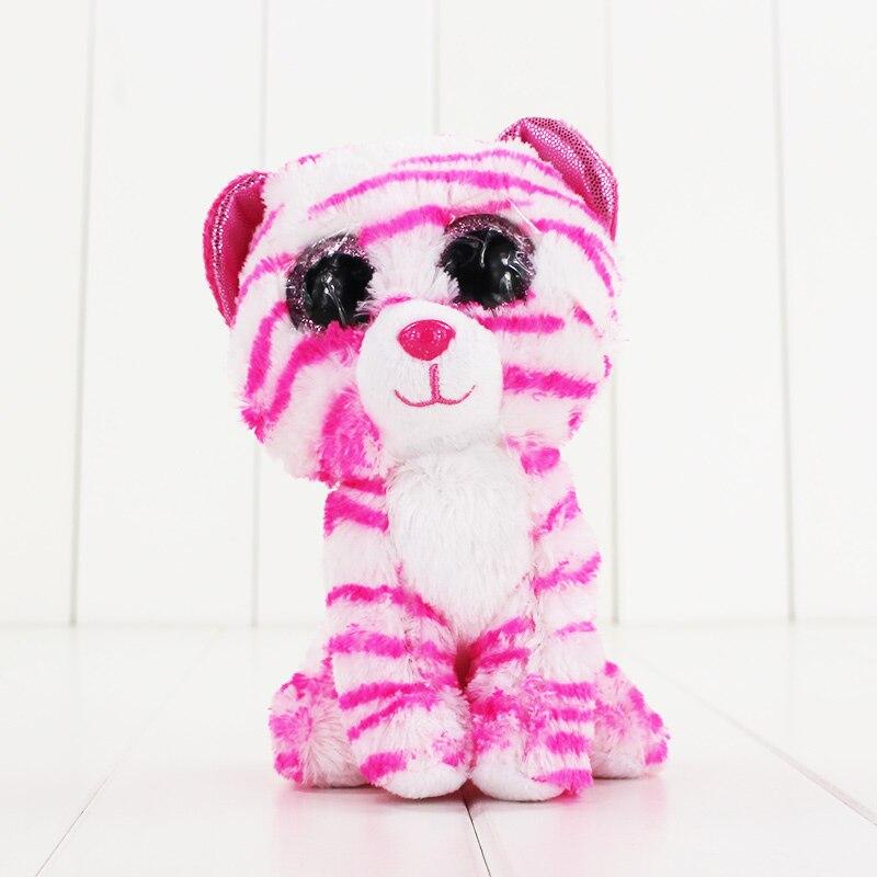 15 см Ty Beanie Боос большие Средства ухода для век плюшевые игрушки куклы розовый леопард ty подарок для маленьких детей Коллекция Мягкие плюшев...