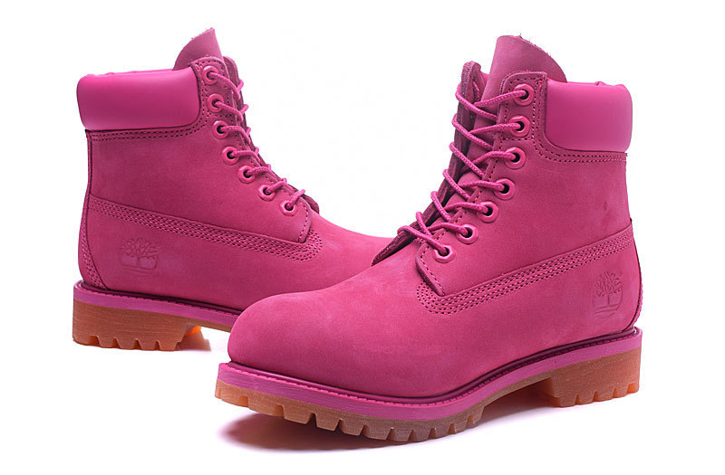 Original TIMBERLAND Women 10061 Pink Winter Boots,Woman Female Lovely Genuine Leather Ankle Anti-Slip Outdoor Warm Shoes 36-39.5 4