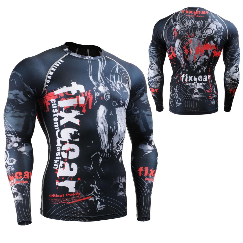 06323403a51 Dropwow CROSSFIT Men s Fitness Clothing Long Sleeve Tee Compression ...