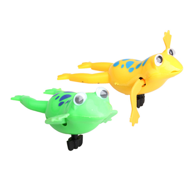 Swimming Frog Battery Operated Pool Cute Bath Toy Wind-Up Swim Frogs Kids Clockwork Dabbling Toy Random Color