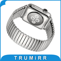 22mm 24mm Elastic Watchband For IWatch Apple Watch 38mm 42mm Stainless Steel Bracelet Band Strap With