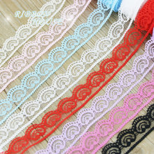 (5 yards/roll) 20mm heart-shaped lace fabric Webbing Decoration Love gift packing Material(China)