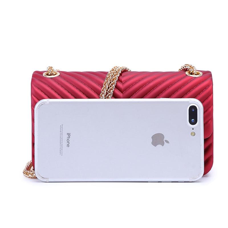 Arsmundi Female Clutch Messenger-Bag Small-Bag New Handbags Candy-Color V-Chain Women