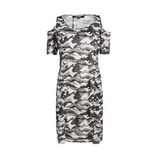 kiss milk summer plus size western style fashion camouflage short sleeve  dress b843f4aac372