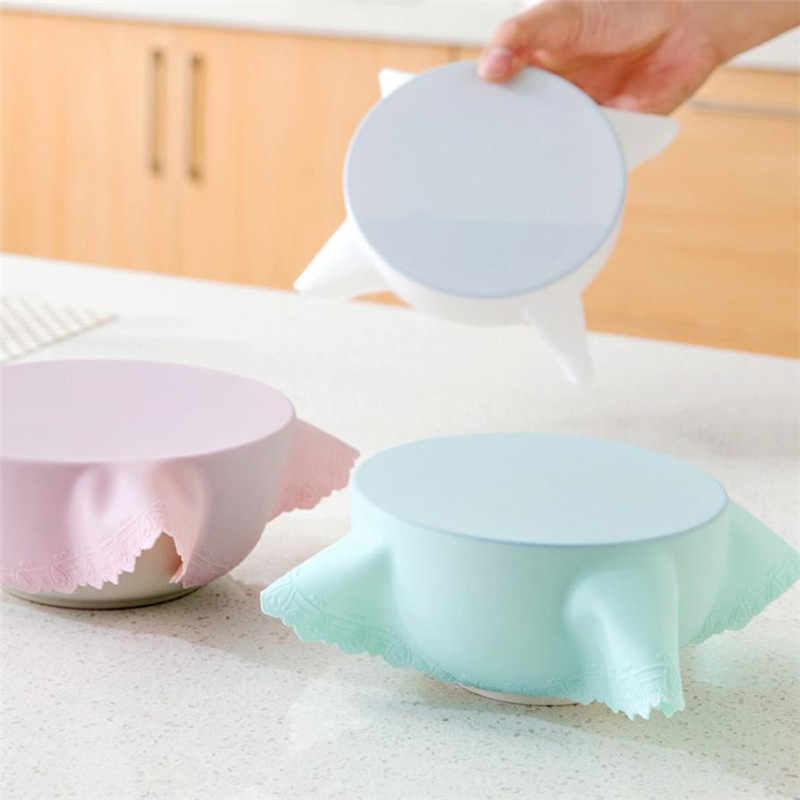 Hot Sale Bowl Lid Silicone Plastic Wrap Cover Microwave Oven Refrigerator Fresh Bowl Seal Covering food storage freeship M5