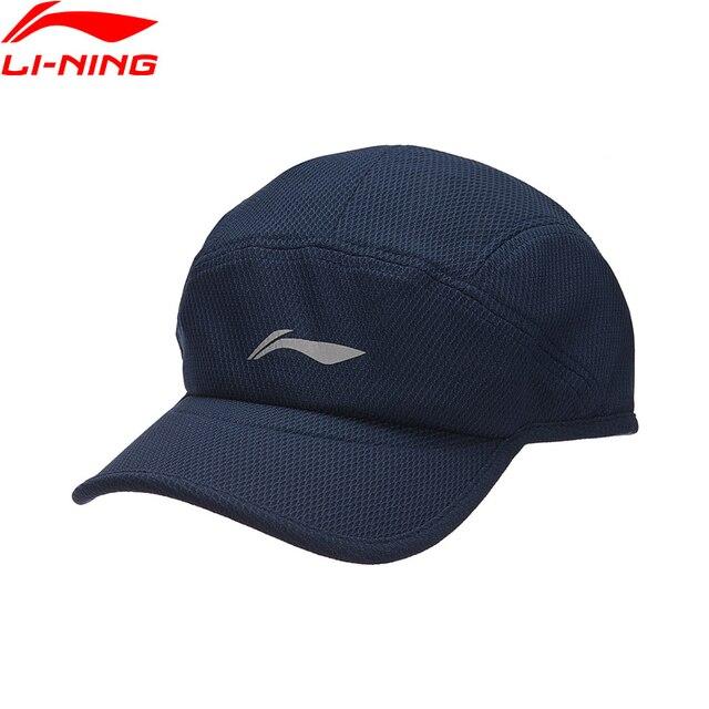 deb3c22815980 Li-Ning Unisex Running Series Baseball Cap 100% Polyester 56-60 cm LiNing  Reflective Sport Hats AMYN016