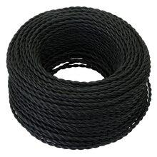 Черного цвета на каблуках высотой 5/10/20 м 2 ядерные Электрические трос Винтаж античная плетеный витой светильник из ткани кабель состоящий из плетеного Шелкового гибкий шнур