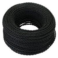 Черный 5/10/20 метров 2 ядра электрический Канатный провод винтажный античный Плетеный витой светильник из ткани кабель тканый Шелковый гибки...