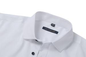 Image 5 - Mannen Bamboevezel Jurk Shirts Casual Slim Fit Lange Mouw Man Sociale Shirts Comfortabele Niet Ijzer Effen Chemise Homme blauw