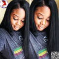 8A Silk Base Lace Wig With Baby Hair Silk Top Full Lace Wigs Yaki Straight For Black Woman Glueless Virgin Human hair