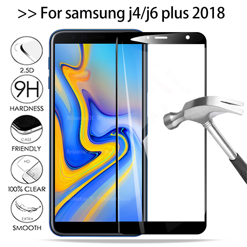 3D Protective Glass On J4 2018 Screen Protector Oh The For Samsung Galaxy J6 Plus Tempered Glass J 4 6 J4plus J6plus Safety Film