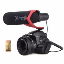 CVM-V30-R Compact On-Camera Video Microphone Youtube Vlogging Recording Mic for iPhone HuaWei Smartphone DJI Osmo Canon DSLR Red