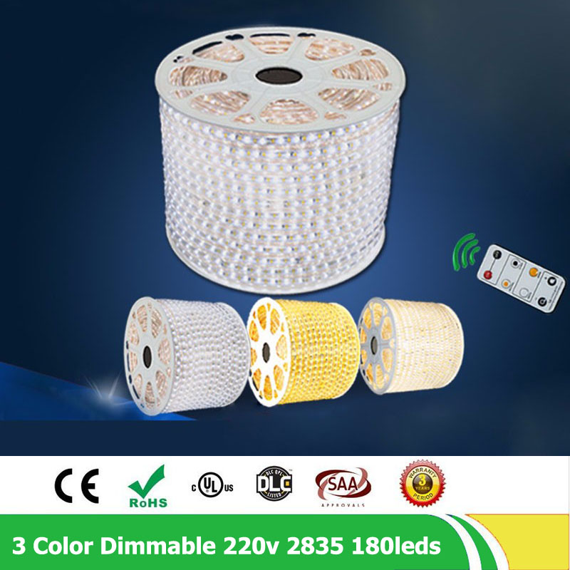 20m / lote 2835 SMD Fila doble 180leds / m 220V - 240V Regulable - Iluminación LED - foto 5