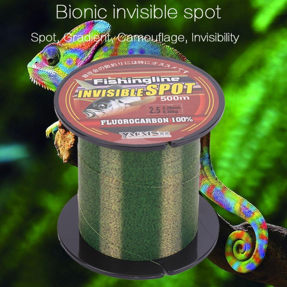 100/150/200/300/500m Camouflage Spots ligne de pêche Super forte traction Nylon lisse ligne principale Invisible accessoires de pêche