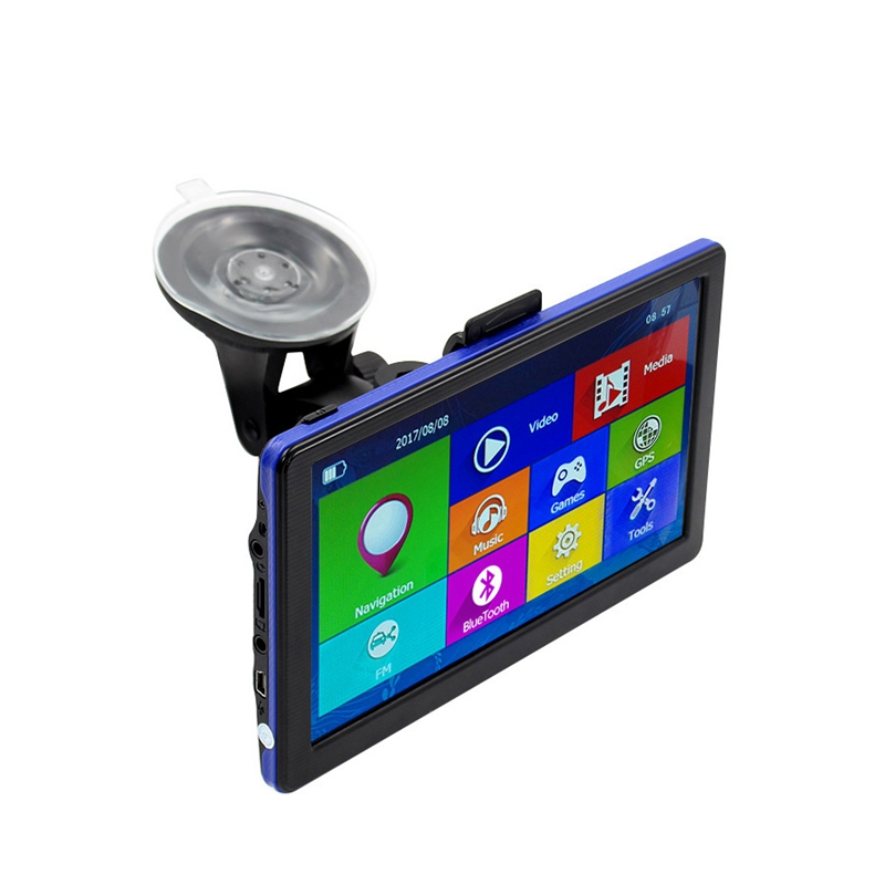 7 Inch Car Gps Navigation Capacitive Screen Fm Built In 8Gb Map For Truck Vehicle Gps Navigator