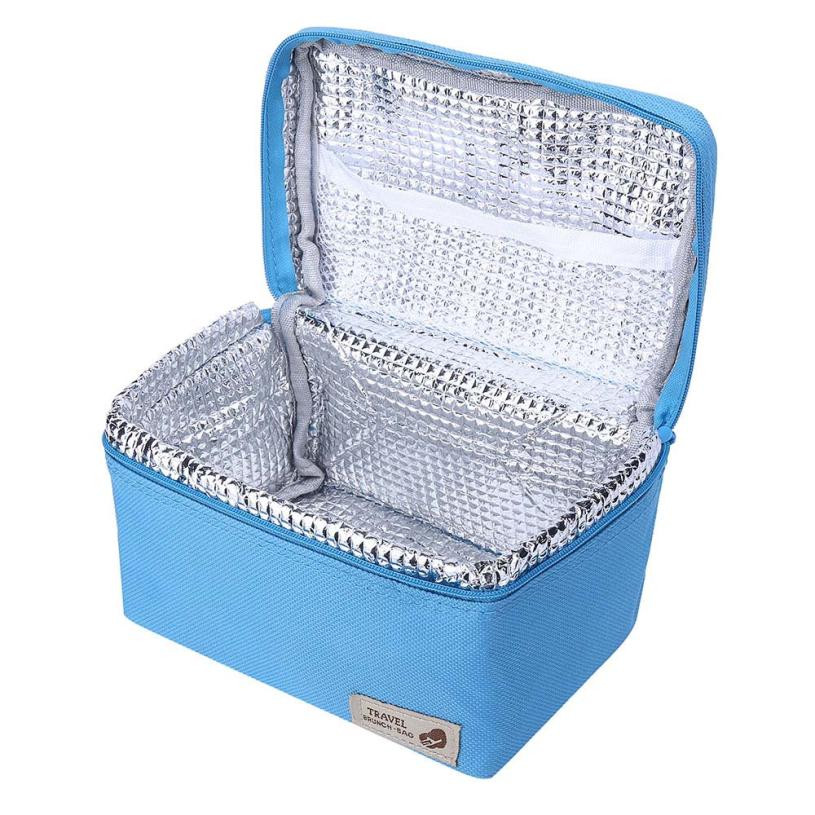 1PC 17X12X11cm Outdoor Portable Insulated Thermal Cooler Bento Lunch Box Picnic Storage Bag Storage Box