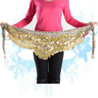 New Style Coins Belly Dance Waist Chain Belly Dance Waist Belt Indian Dance Hip Skirt Scarf