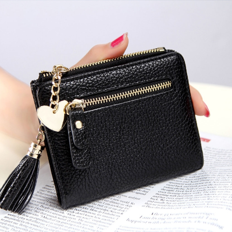 2017 Fashion Girl Women Mini Short Tassel Wallet Purse Faux Leather Small Lady Card Holder Coin Purse Clutch Handbag Elegant Bag lovetoy lace design brief strap on dildo harness with big penis adult game nylon