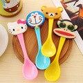 2016 милый мультфильм детская ложка детская посуда ребенок научиться кормить инструменты мороженое/кофе ложкой многоцветный 1 горячая