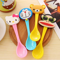 2016 cute cartoon baby spoon children's tableware baby learn to feed tools ice cream / coffee spoon multicolor 1 hot