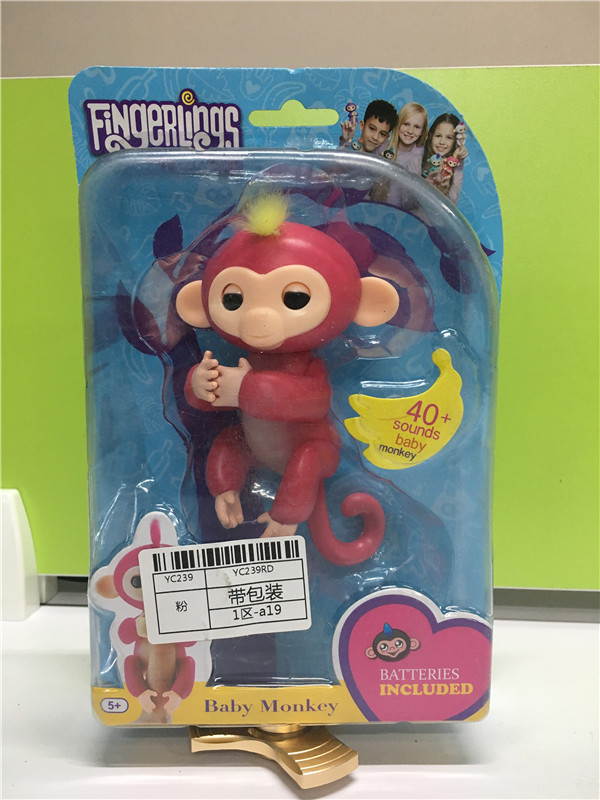 2017-Finger-Monkey-half-intelligent-Pet-Monkey-Electronic-Pet-Toys-shake-the-hody-it-sound-and-light-attention-no-full-function-3