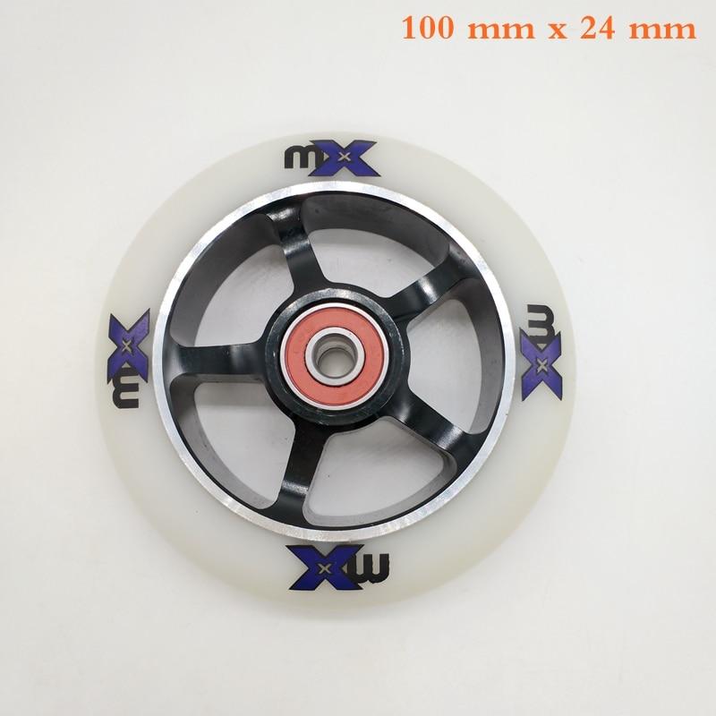 Free Shipping Speed Wheel Aggressive Skate Wheel AL Hub 100 Mm 85 A Black 4 Pieces / Lot