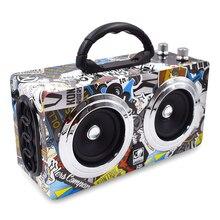 De madera Al Aire Libre Altavoz Bluetooth 20 W Surppot USB/TF/FM Subwoofer HIFI Altavoz Portátil Inalámbrico de Audio Baile de figuras VS120