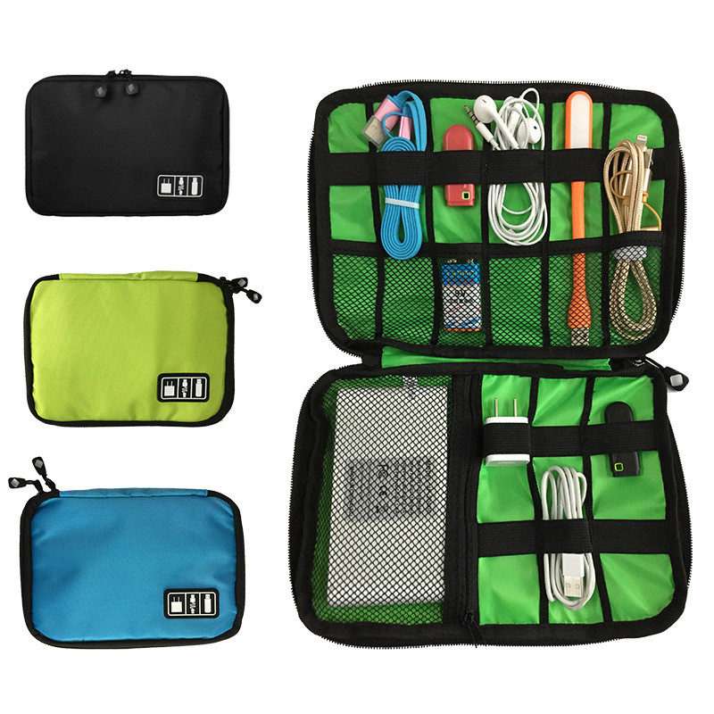 Electronic Accessories USB Drives Case Organizer Bag Digital Storage Pouch Data Earphone Cable Outdoor Camping Equipment Travel