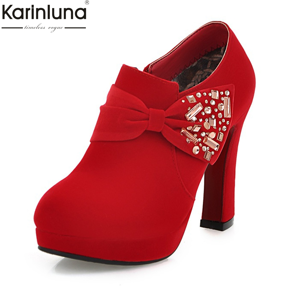 Karinluna 2018 New Fashion Zip Up Women Shoes Woman Boots Chunky High Heels Hot Sale Ankle Boots Shoes Woman bootiesKarinluna 2018 New Fashion Zip Up Women Shoes Woman Boots Chunky High Heels Hot Sale Ankle Boots Shoes Woman booties
