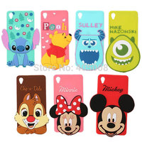 3D Cartoon Silicone Monsters University Case For Sony Xperia Z3 Sulley Tiger Minnie Mickey Mouse Stitch
