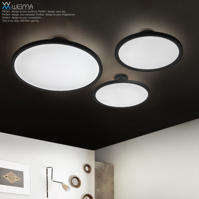 Led Lamps And Of Modern Minimalist Circular ceiling lamp Balcony Restaurant Study Bedroom Living Room Lamps ceiling light 2017 new modern and simple circular led ceiling lamp black color restaurant bedroom living room balcony light free shipping