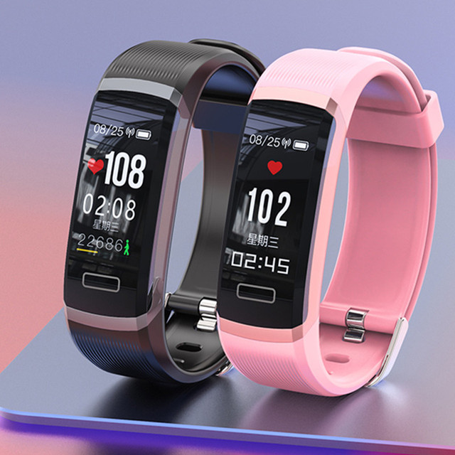 Bracelet real-time monitor heart rate & sleeping best Couple Fitness Tracker pink fit 2