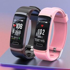 Image 3 - Letike reloj inteligente GT101 para hombre y mujer, pulsera con control del ritmo cardíaco y del sueño en tiempo real, color rosa